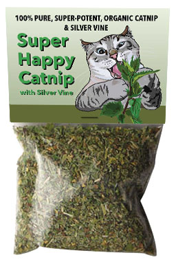 Try Super Happy Catnip with Silver Vine